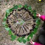 Mandala réalisé avec le centre de loisirs Marie Noël