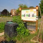 La placette de compostage collective du Jardin des Huches à Quetigny