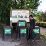La placette de compostage de l'esplanade Boutaric aux Grésilles