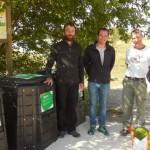 La placette de compostage partagé de la ferme de Noge à Quetigny