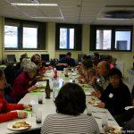 repas partagé et temps d'échange au Jardin des sciences